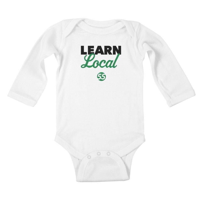 Learn Local 55 Kids Baby Longsleeve Bodysuit by FOH55