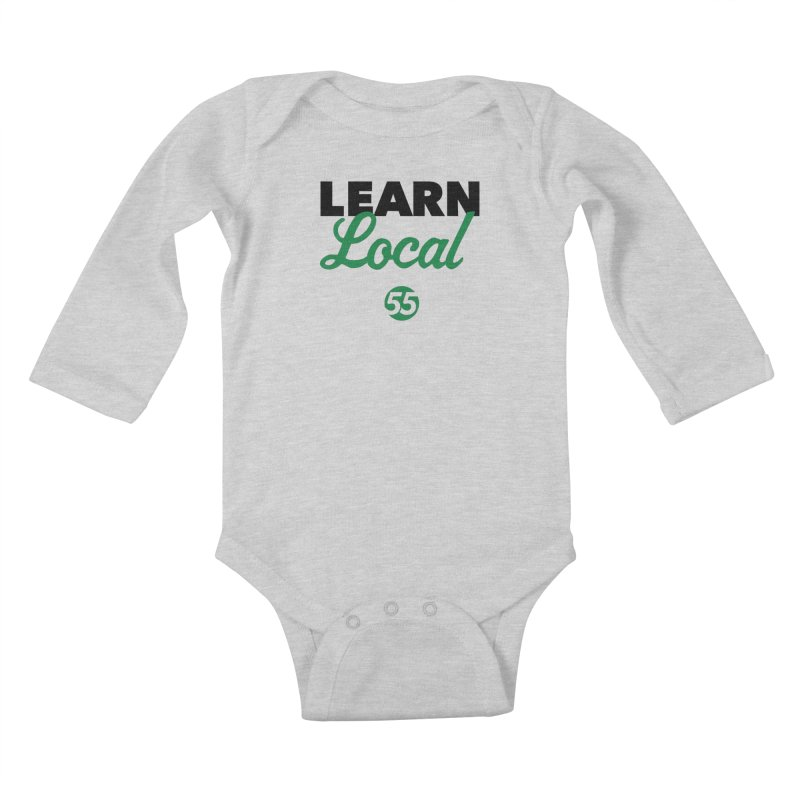 Learn Local 55 Kids Baby Longsleeve Bodysuit by FOH55