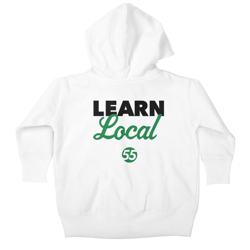 Learn Local 55 Kids Baby Zip-Up Hoody by FOH55