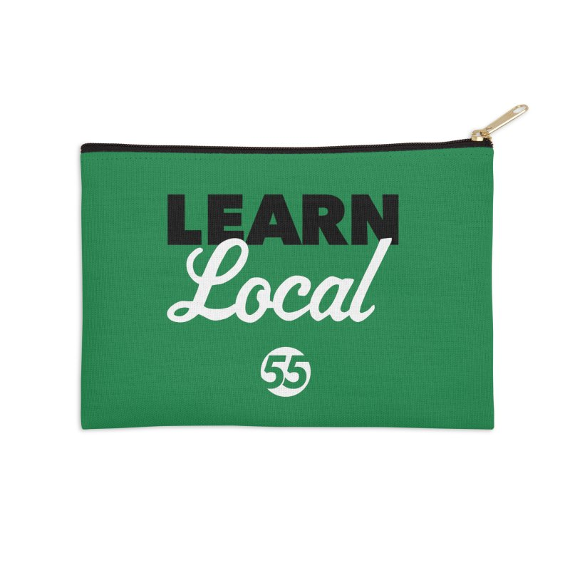 Learn Local 55 - Green bag Accessories Zip Pouch by FOH55