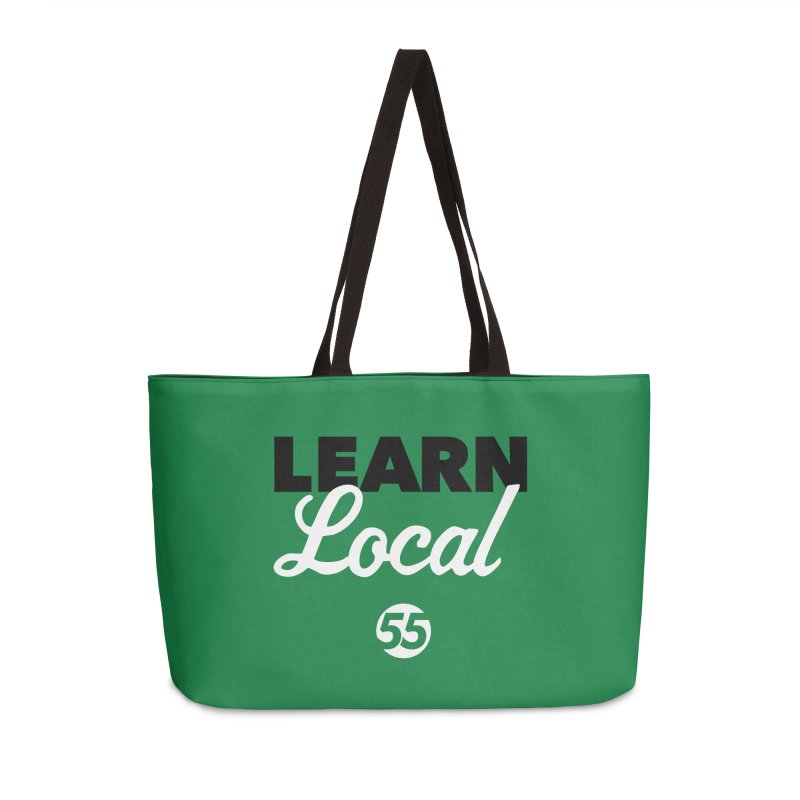 Learn Local 55 - Green bag Accessories Weekender Bag Bag by FOH55
