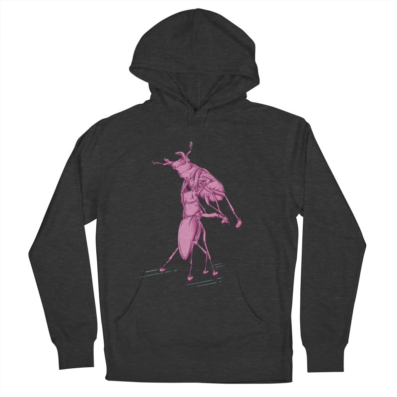 Stag Beetle Ice Skating Women's French Terry Pullover Hoody by FOURHWAY's Shop