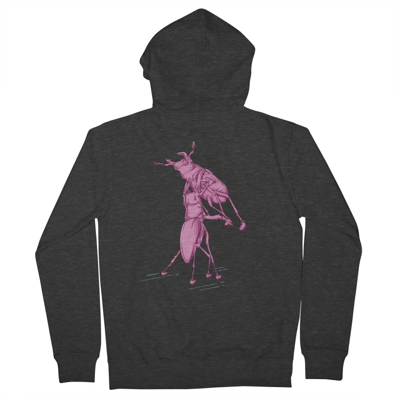 Stag Beetle Ice Skating Women's French Terry Zip-Up Hoody by FOURHWAY's Shop