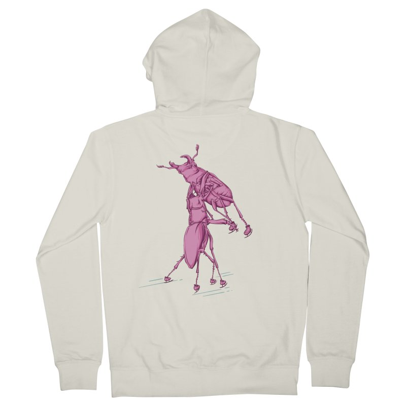 Stag Beetle Ice Skating Men's French Terry Zip-Up Hoody by FOURHWAY's Shop
