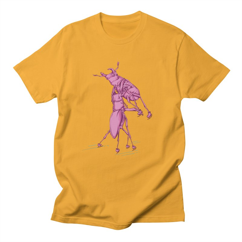 Stag Beetle Ice Skating Men's T-shirt by FOURHWAY's Shop