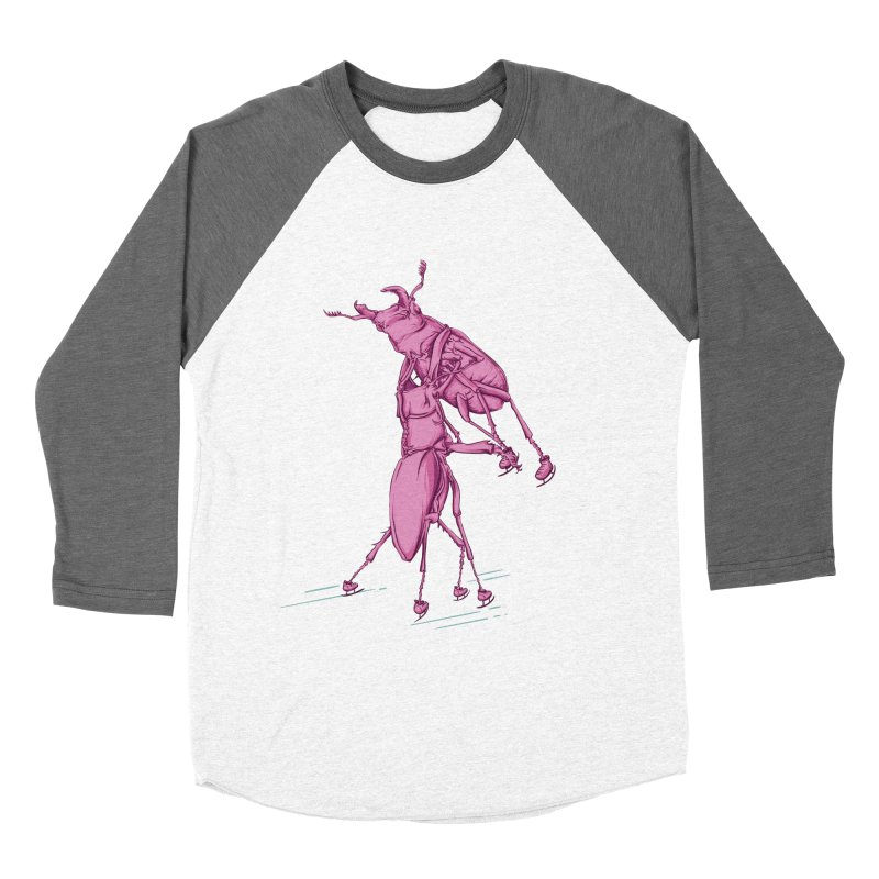 Stag Beetle Ice Skating Women's Baseball Triblend Longsleeve T-Shirt by FOURHWAY's Shop