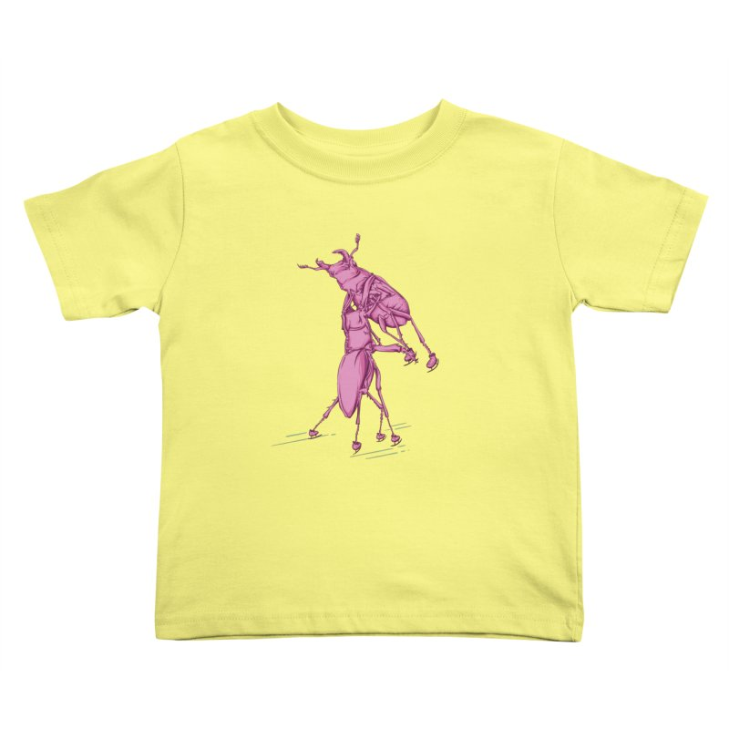 Stag Beetle Ice Skating Kids Toddler T-Shirt by FOURHWAY's Shop