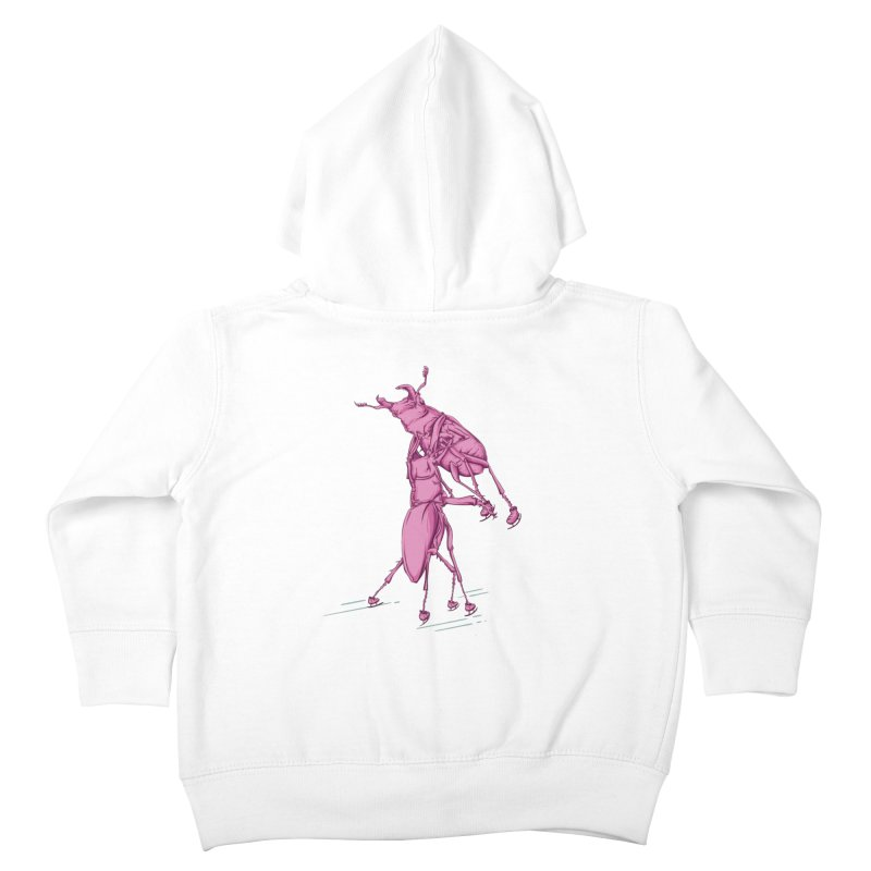 Stag Beetle Ice Skating Kids Toddler Zip-Up Hoody by FOURHWAY's Shop