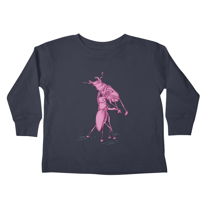 Stag Beetle Ice Skating Kids Toddler Longsleeve T-Shirt by FOURHWAY's Shop