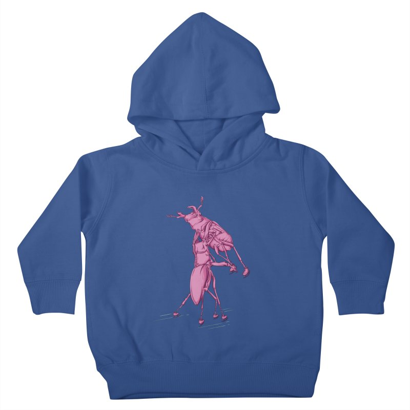 Stag Beetle Ice Skating Kids Toddler Pullover Hoody by FOURHWAY's Shop