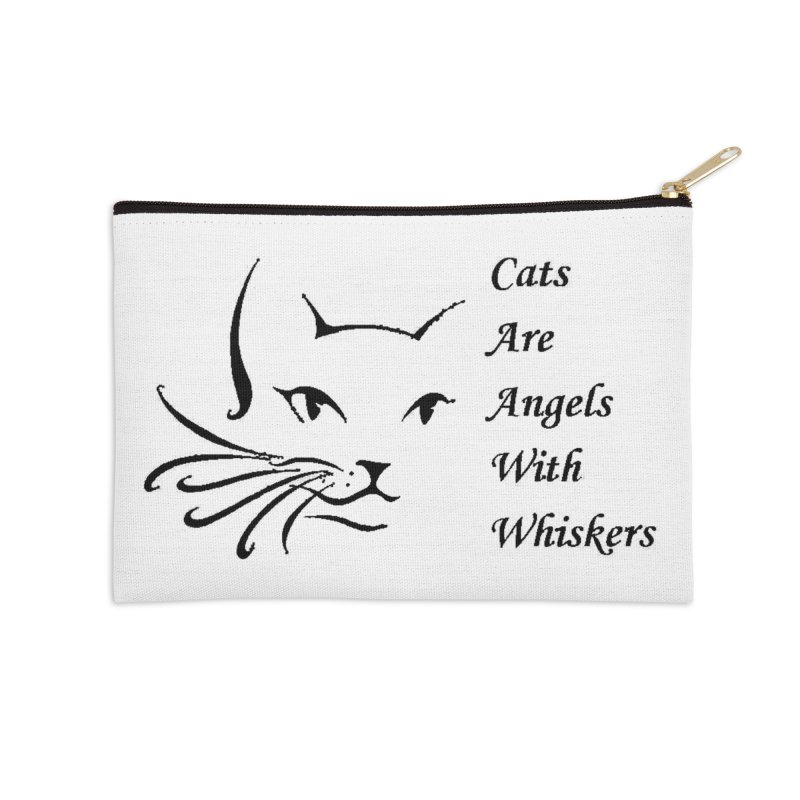 Cats are angels with wings black Accessories Zip Pouch by FPAS's Artist Shop