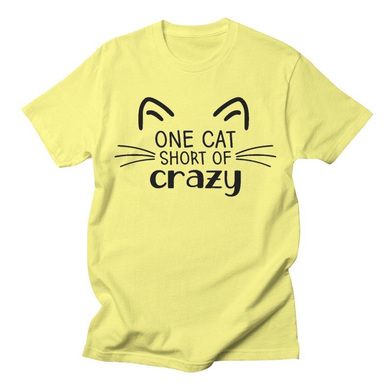 One Cat Short of Crazy black Men's T-Shirt by FPAS's Artist Shop
