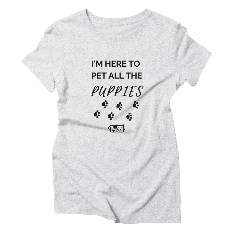 Pet the Puppies Women's T-Shirt by FPAS's Artist Shop