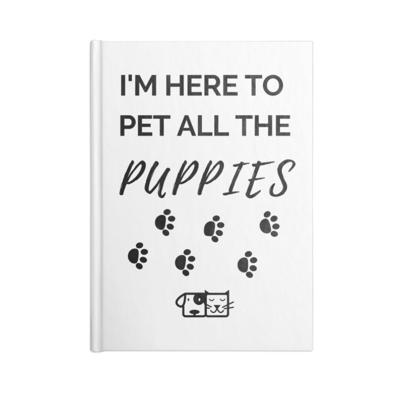 Pet the Puppies Accessories Notebook by FPAS's Artist Shop