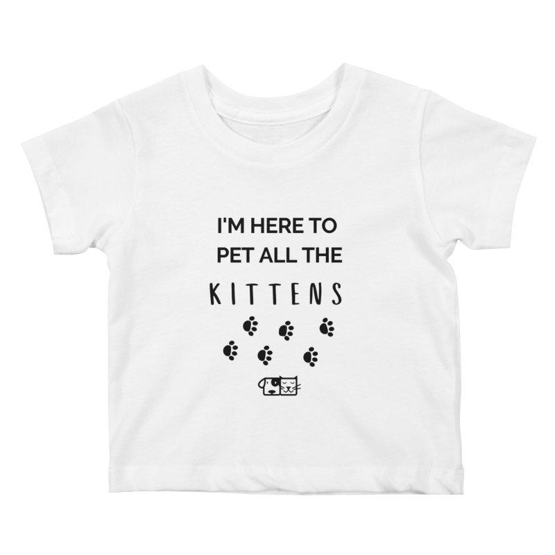 Pet the Kittens Kids Baby T-Shirt by FPAS's Artist Shop
