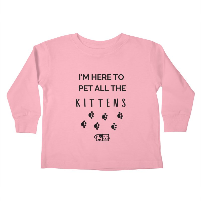 Pet the Kittens Kids Toddler Longsleeve T-Shirt by FPAS's Artist Shop