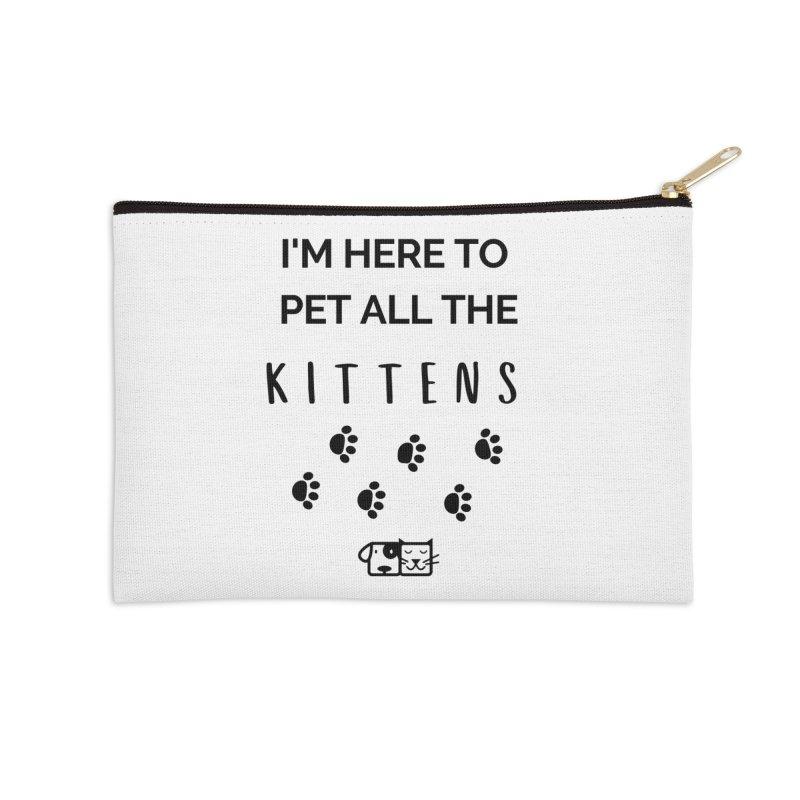 Pet the Kittens Accessories Zip Pouch by FPAS's Artist Shop