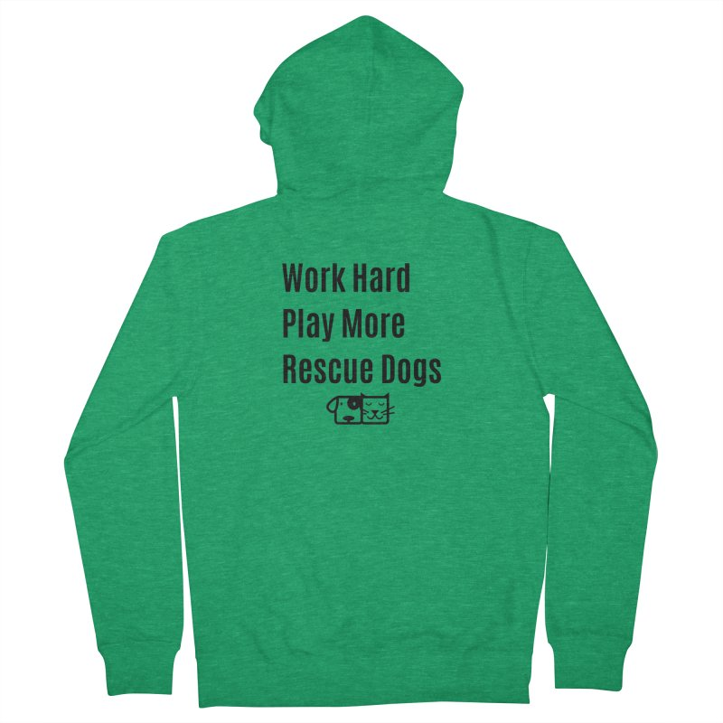 Work Hard Women's Zip-Up Hoody by FPAS's Artist Shop