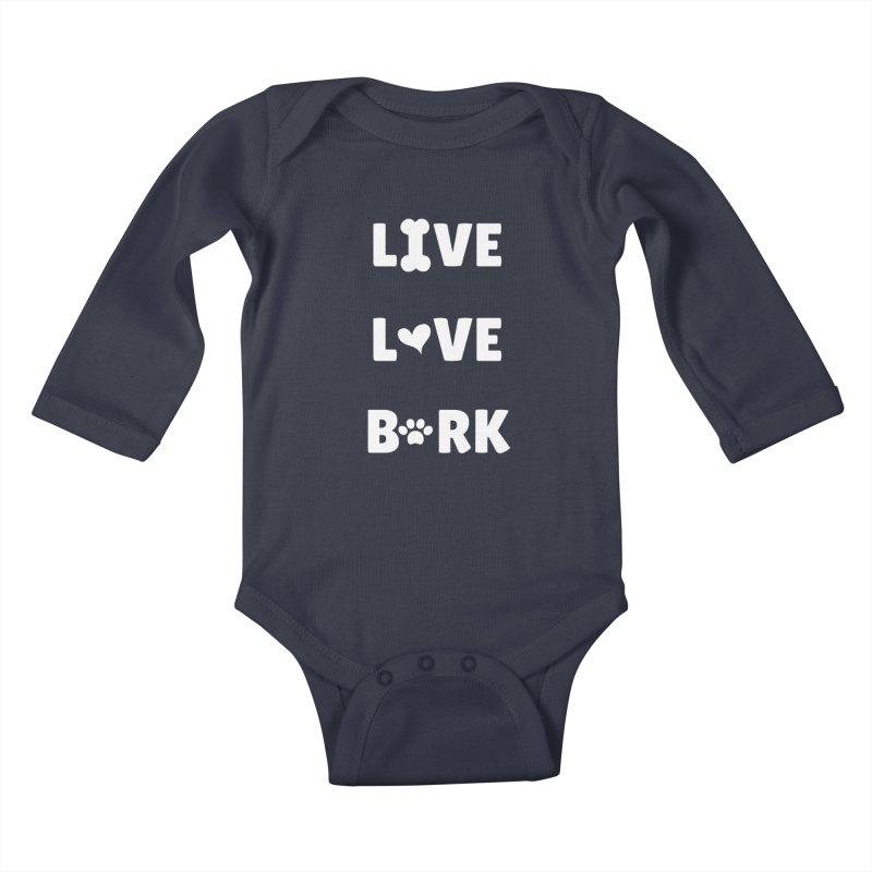 Live Love Bark Kids Baby Longsleeve Bodysuit by FPAS's Artist Shop