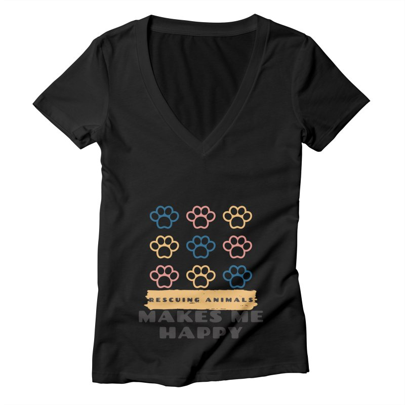 Rescuing Animals Women's V-Neck by FPAS's Artist Shop