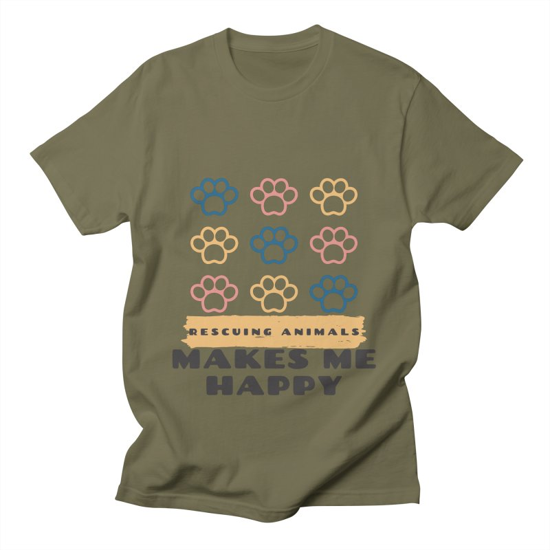 Rescuing Animals Men's T-Shirt by FPAS's Artist Shop