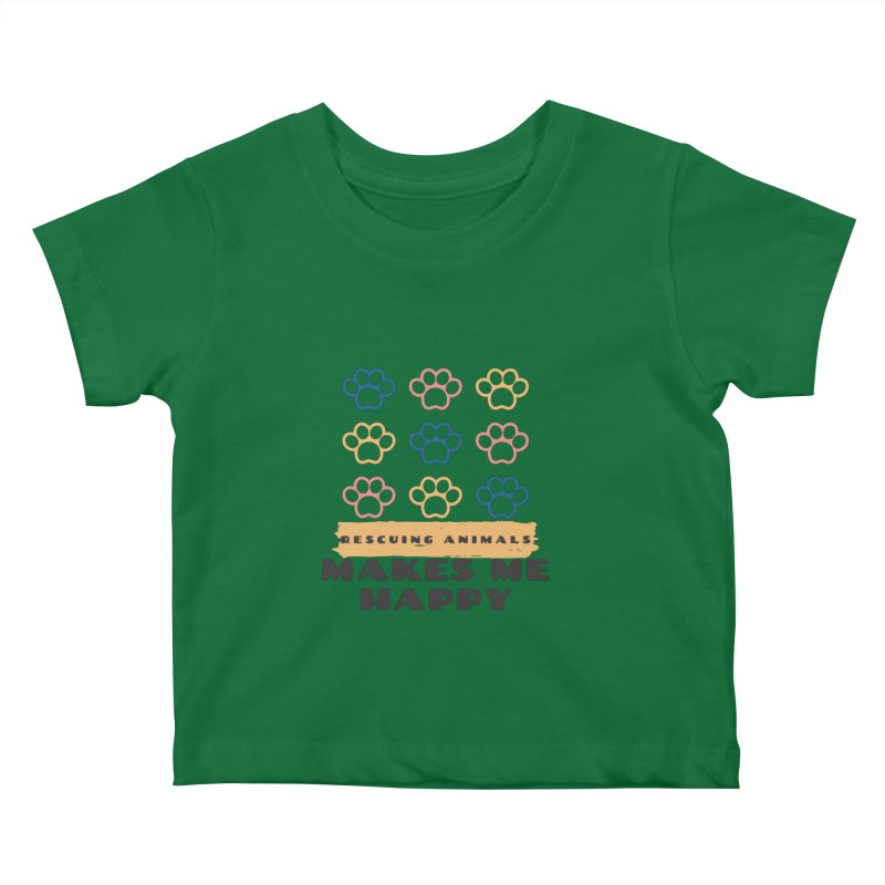 Rescuing Animals Kids Baby T-Shirt by FPAS's Artist Shop