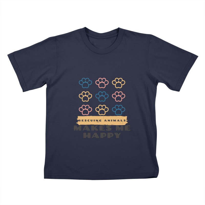 Rescuing Animals Kids T-Shirt by FPAS's Artist Shop