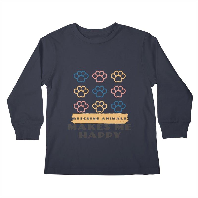 Rescuing Animals Kids Longsleeve T-Shirt by FPAS's Artist Shop