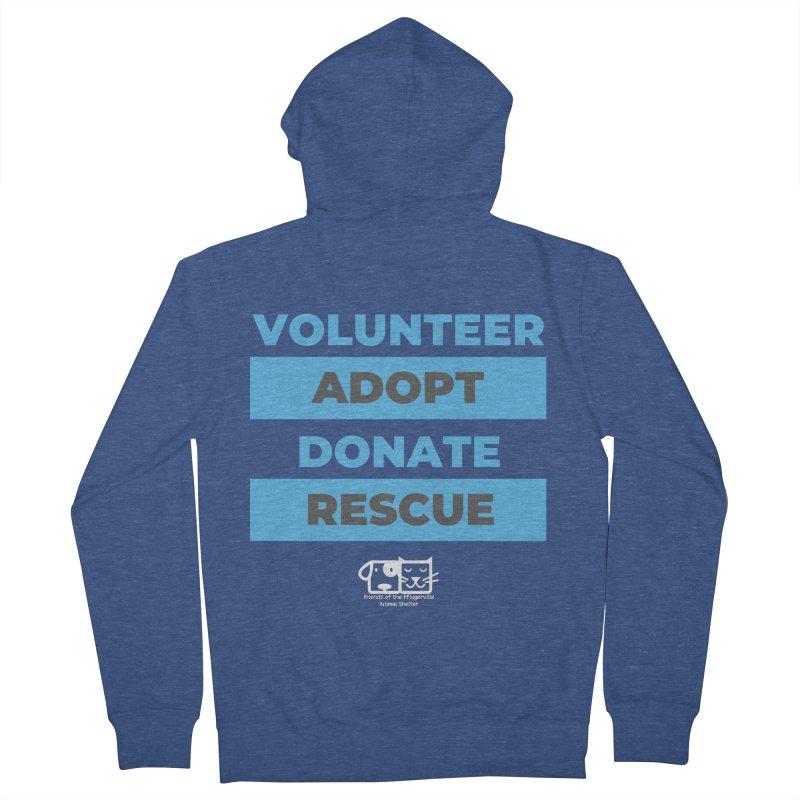 Volunteer Adopt Donate Rescue Women's Zip-Up Hoody by FPAS's Artist Shop