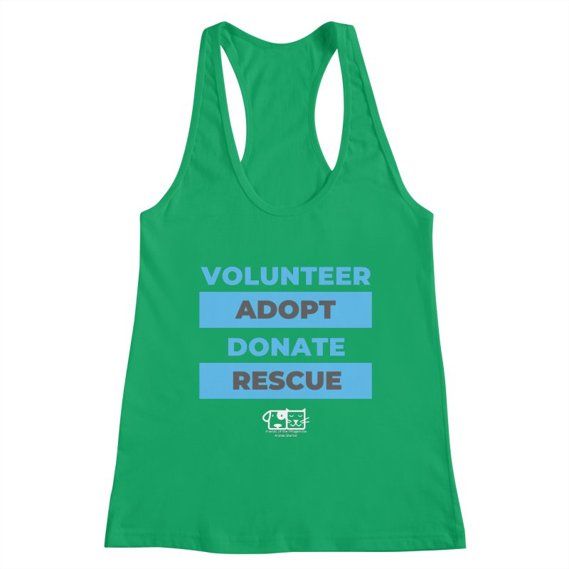 Volunteer Adopt Donate Rescue Women's Tank by FPAS's Artist Shop