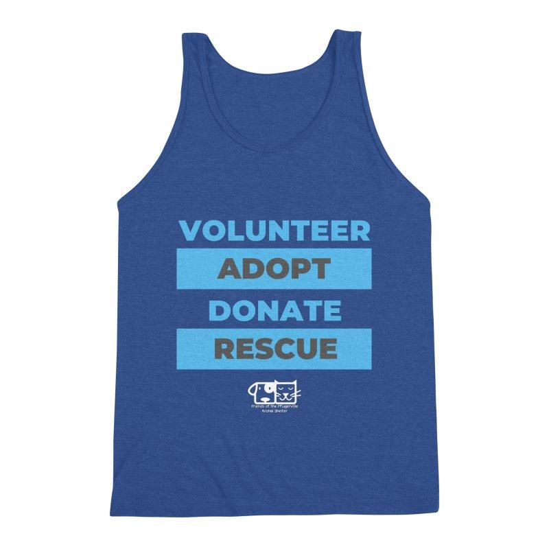Volunteer Adopt Donate Rescue Men's Tank by FPAS's Artist Shop
