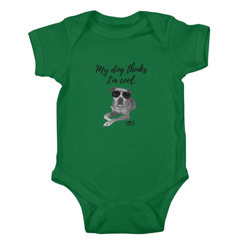 My Dog Thinks I'm Cool - Leroy Kids Baby Bodysuit by FPAS's Artist Shop