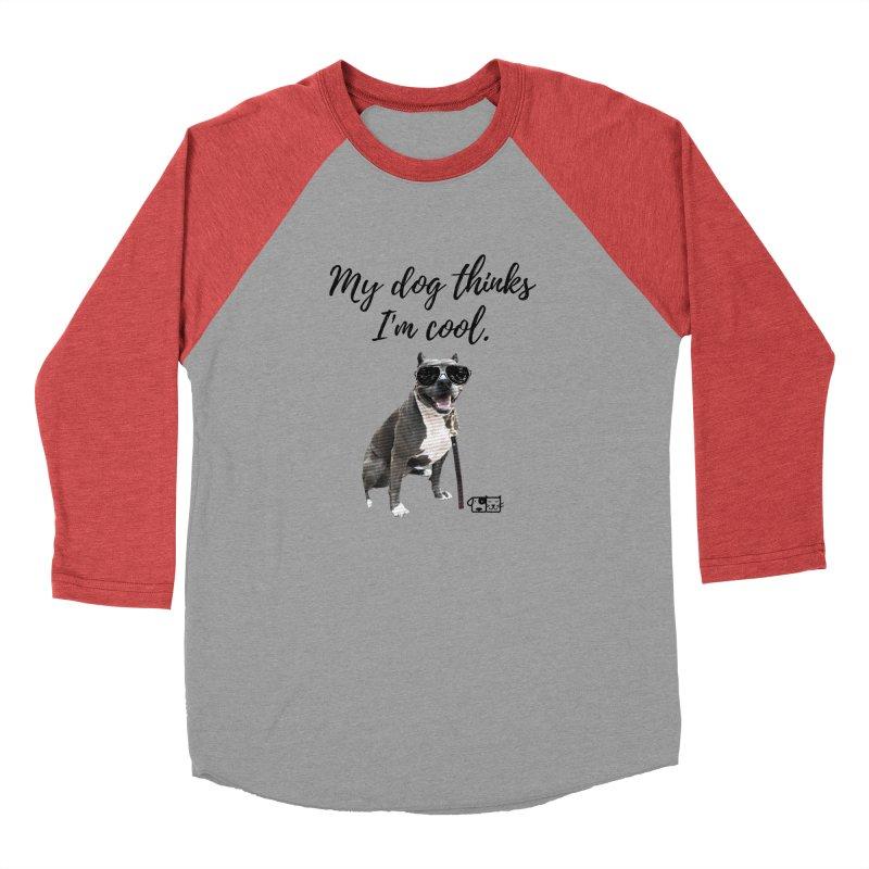 My Dog Thinks I'm Cool - Josie Men's Longsleeve T-Shirt by FPAS's Artist Shop