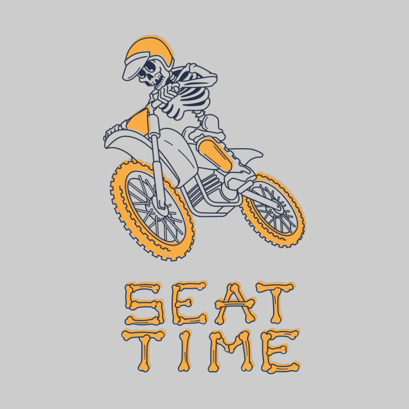 Seat Time Skeleton Kids T-Shirt by Full Pint Media Group's Shop