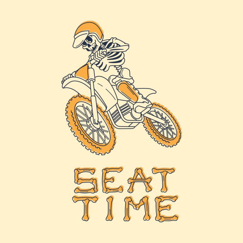 Seat Time Skeleton None  by Full Pint Media Group's Shop