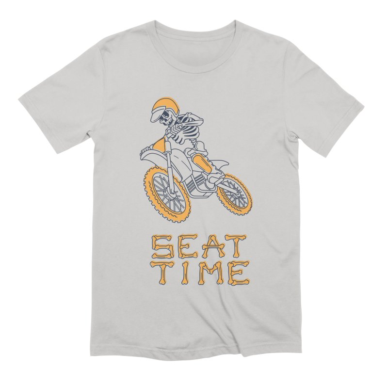 Seat Time Skeleton Men's Extra Soft T-Shirt by Full Pint Media Group's Shop