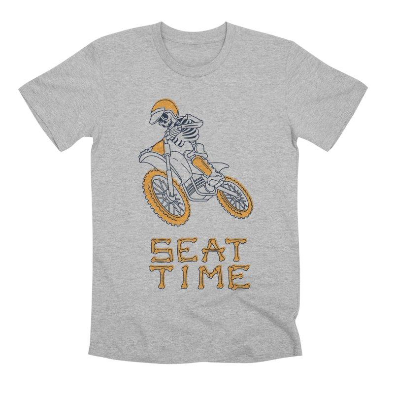 Seat Time Skeleton Men's Premium T-Shirt by Full Pint Media Group's Shop