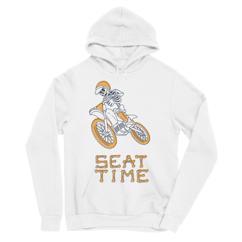 Seat Time Skeleton Men's Sponge Fleece Pullover Hoody by Full Pint Media Group's Shop