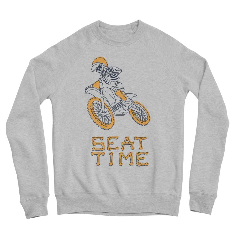 Seat Time Skeleton Men's Sponge Fleece Sweatshirt by Full Pint Media Group's Shop