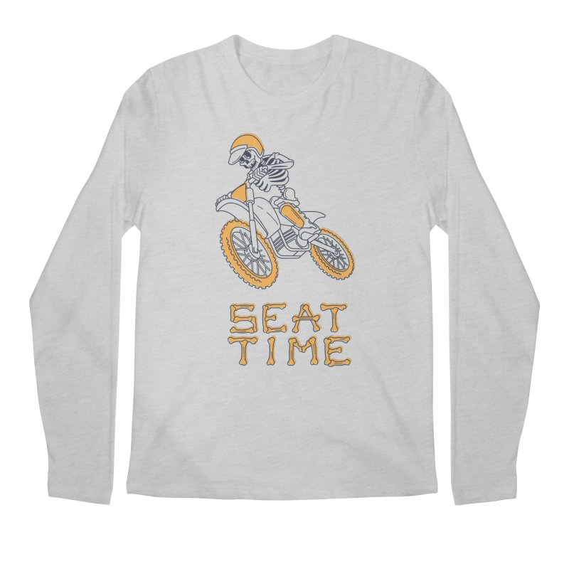Seat Time Skeleton Men's Longsleeve T-Shirt by Full Pint Media Group's Shop