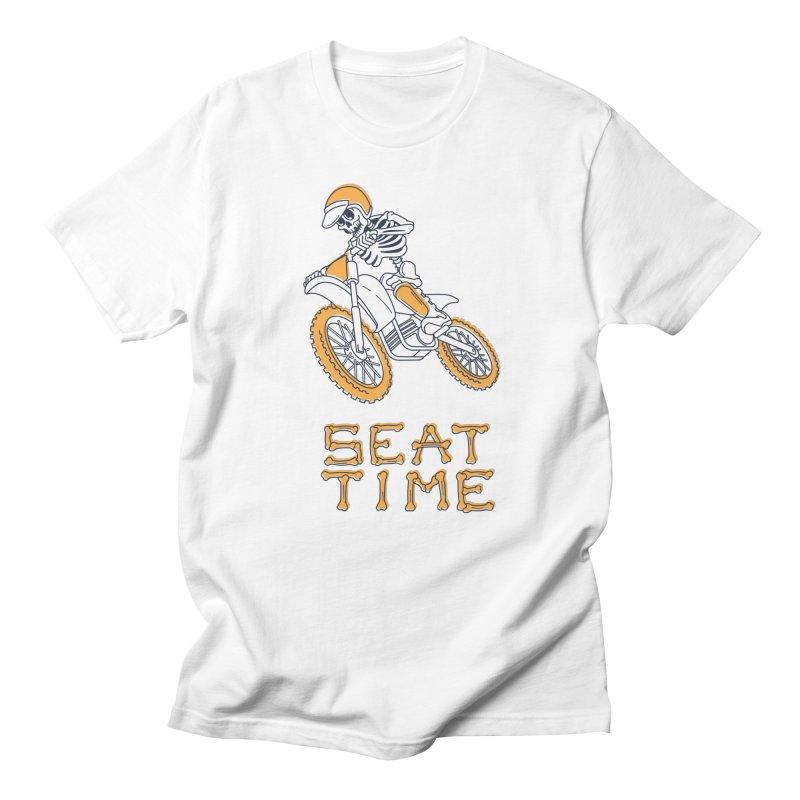 Seat Time Skeleton Men's T-Shirt by Full Pint Media Group's Shop