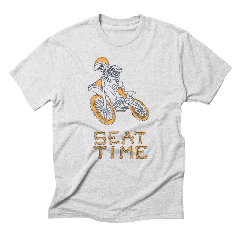 Seat Time Skeleton Men's T-Shirt by Full Pint Media Group's Shop