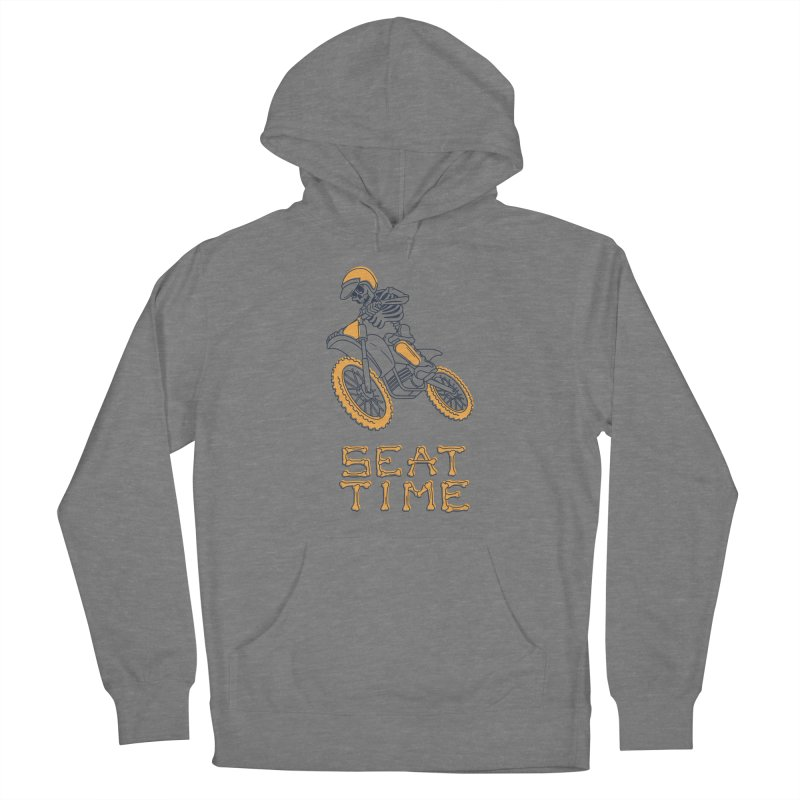 Seat Time Skeleton Men's Pullover Hoody by Full Pint Media Group's Shop