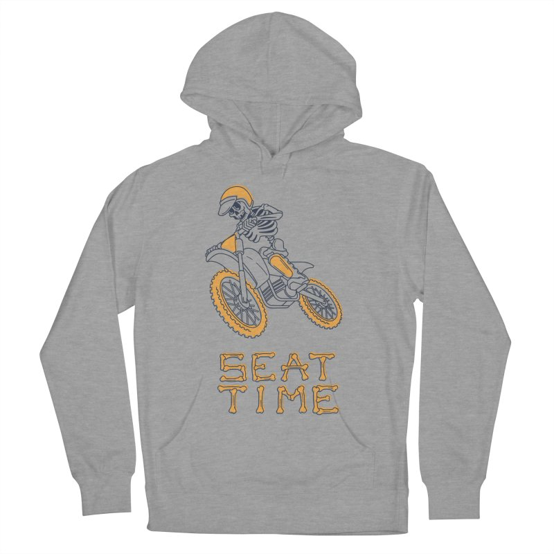 Seat Time Skeleton Men's French Terry Pullover Hoody by Full Pint Media Group's Shop