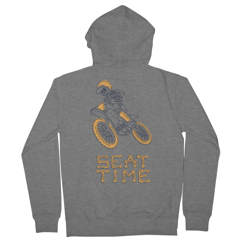 Seat Time Skeleton Men's Zip-Up Hoody by Full Pint Media Group's Shop
