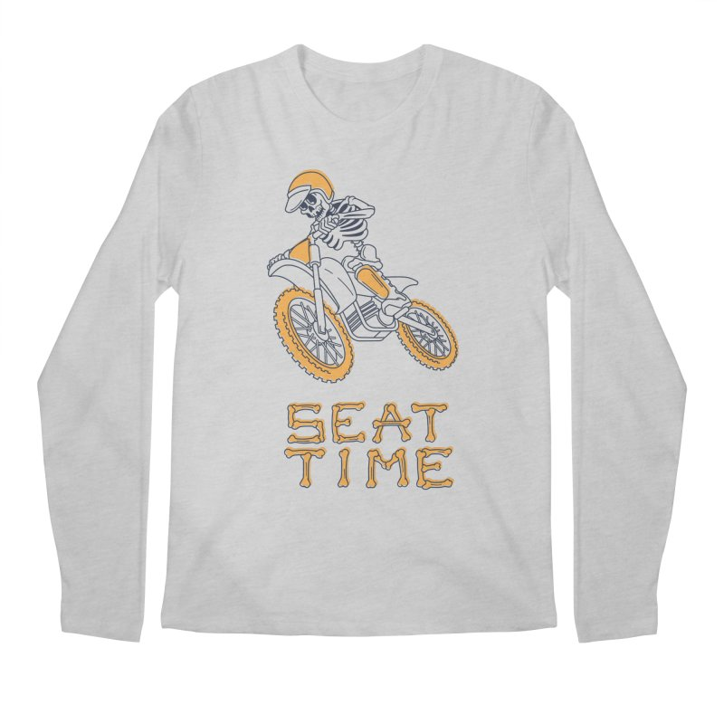 Seat Time Skeleton Men's Regular Longsleeve T-Shirt by Full Pint Media Group's Shop