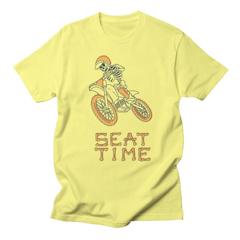 Seat Time Skeleton Men's Regular T-Shirt by Full Pint Media Group's Shop