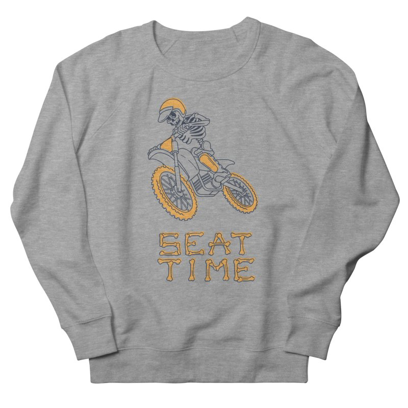 Seat Time Skeleton Men's French Terry Sweatshirt by Full Pint Media Group's Shop