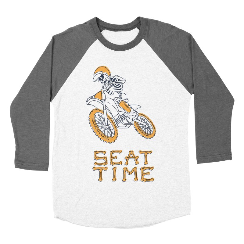 Seat Time Skeleton Men's Baseball Triblend Longsleeve T-Shirt by Full Pint Media Group's Shop