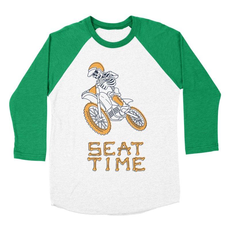 Seat Time Skeleton Men's Baseball Triblend Longsleeve T-Shirt by Full Pint Media Group's Shop